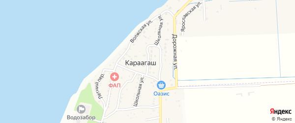 Школьная улица на карте поселка Караагаша с номерами домов