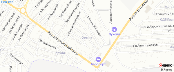 Химиков 4-й переулок на карте Астрахани с номерами домов