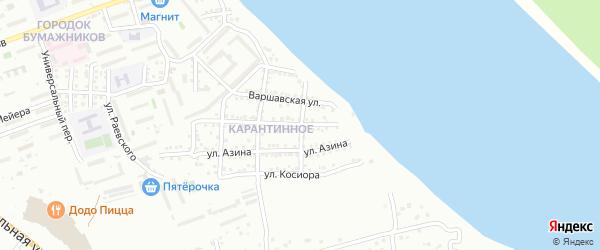 Атлантическая улица на карте Астрахани с номерами домов
