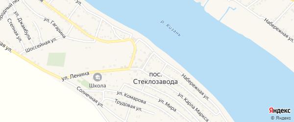 Улица Гоголя на карте поселка Стеклозавода с номерами домов