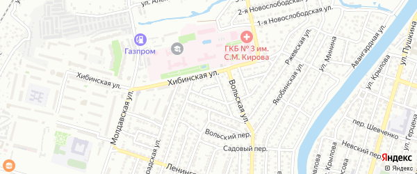 Стальной переулок на карте Астрахани с номерами домов