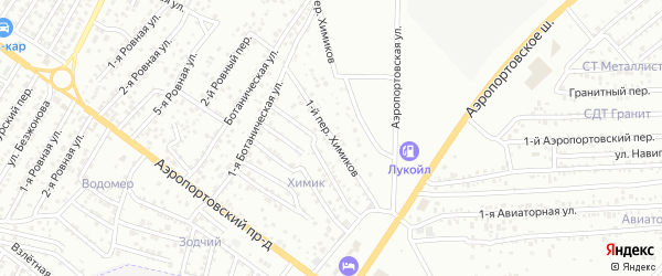 Химиков 1-й переулок на карте Астрахани с номерами домов