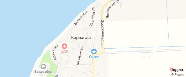 Новая улица на карте поселка Караагаша с номерами домов
