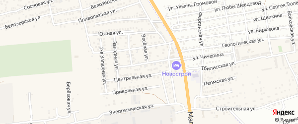 Сельская улица на карте села Солянки с номерами домов