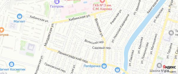 Никольский переулок на карте Астрахани с номерами домов