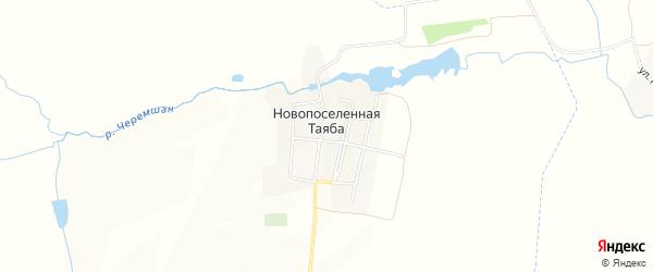Карта деревни Новопоселенной Таяба в Чувашии с улицами и номерами домов
