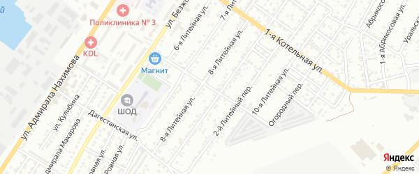 Тульский переулок на карте Астрахани с номерами домов