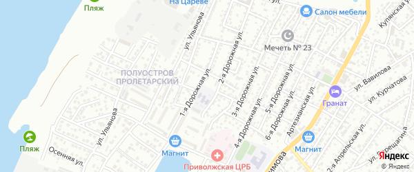 Улица Чигорина на карте Астрахани с номерами домов