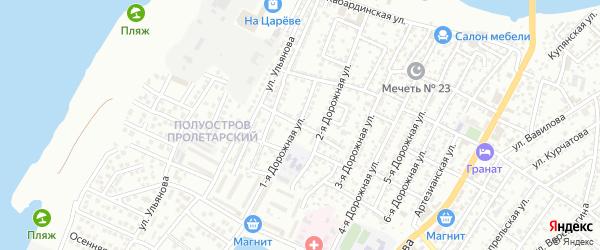 Улица Андреева на карте Астрахани с номерами домов