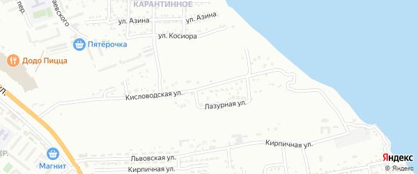Кисловодская улица на карте Астрахани с номерами домов