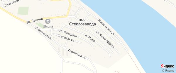 Улица Мира на карте поселка Стеклозавода с номерами домов