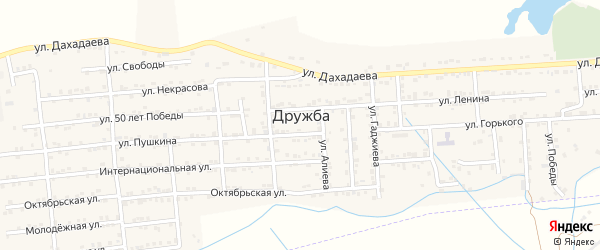 Кооперативная улица на карте села Дружбы с номерами домов