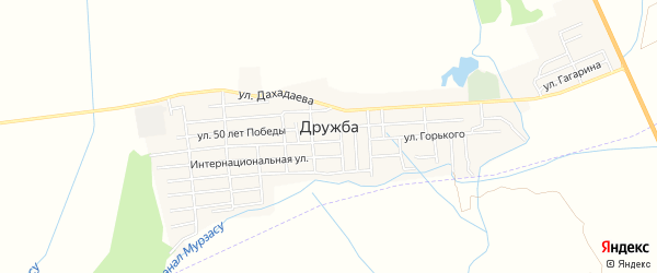 Карта села Дружбы в Дагестане с улицами и номерами домов