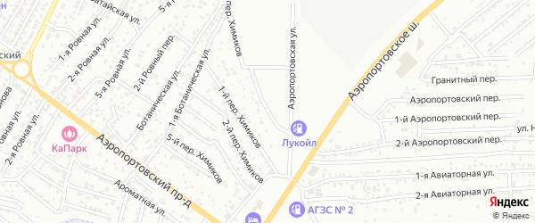 Переулок Химиков на карте Астрахани с номерами домов