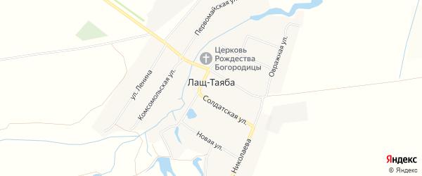 Карта села Лаща-Таяба в Чувашии с улицами и номерами домов