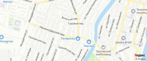 Лесной переулок на карте Астрахани с номерами домов