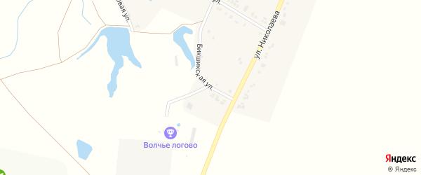Бикшикская улица на карте села Лаща-Таяба с номерами домов