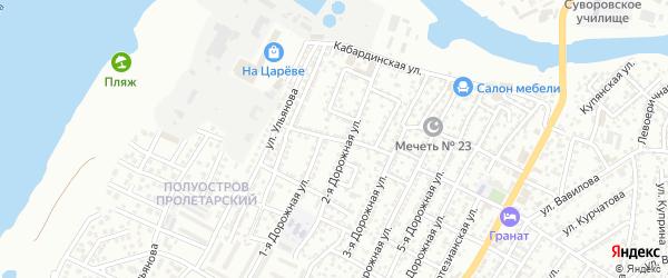 Лесная улица на карте Астрахани с номерами домов