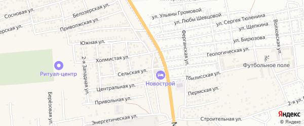 Северная улица на карте села Солянки с номерами домов