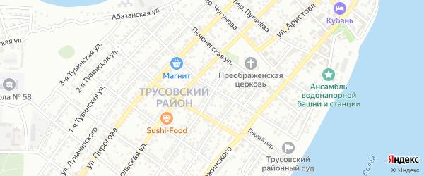 Нальчикский переулок на карте Астрахани с номерами домов