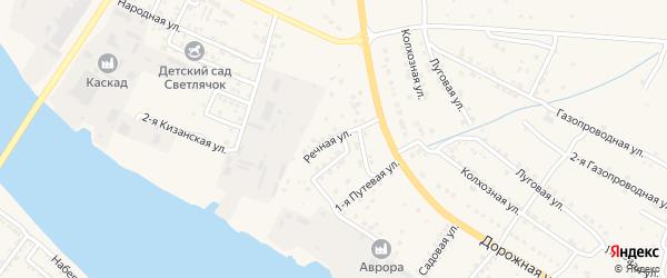 Речная улица на карте села Карагали с номерами домов