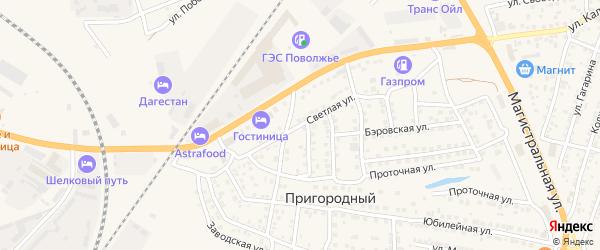Светлая улица на карте Пригородного поселка с номерами домов