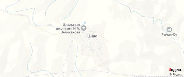 Карта села Цнала в Дагестане с улицами и номерами домов