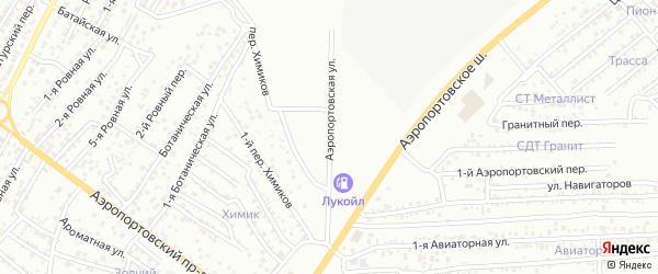 Аэропортовская улица на карте Астрахани с номерами домов