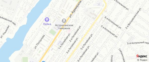 Котельная 4-я улица на карте Астрахани с номерами домов