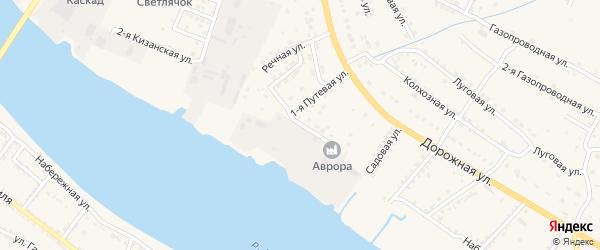 Прибрежная улица на карте села Яксатово с номерами домов