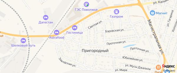 Полевая улица на карте Пригородного поселка с номерами домов