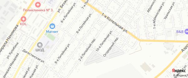 Литейный переулок на карте Астрахани с номерами домов