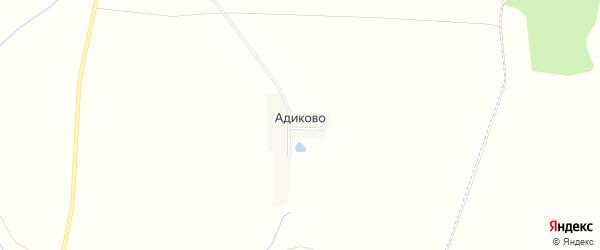 Карта поселка Адиково в Чувашии с улицами и номерами домов
