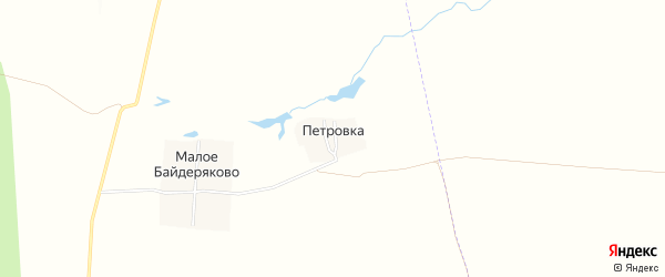 Карта поселка Петровки в Чувашии с улицами и номерами домов