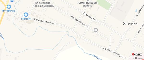 Кооперативная улица на карте села Яльчиков с номерами домов