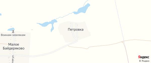 Петровская улица на карте поселка Петровки с номерами домов