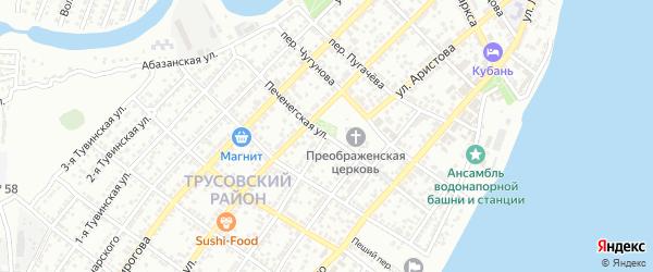 Печенегская улица на карте Астрахани с номерами домов