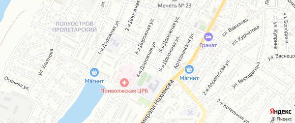 Балаклавская улица на карте Астрахани с номерами домов
