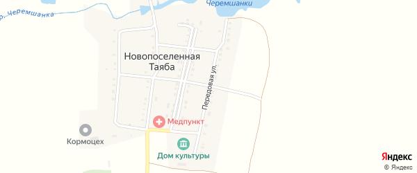Передовая улица на карте деревни Новопоселенной Таяба с номерами домов