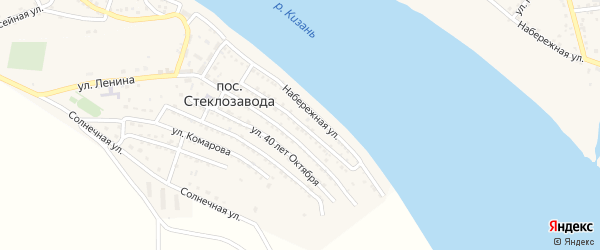 Улица 20 Партсъезда на карте поселка Стеклозавода с номерами домов