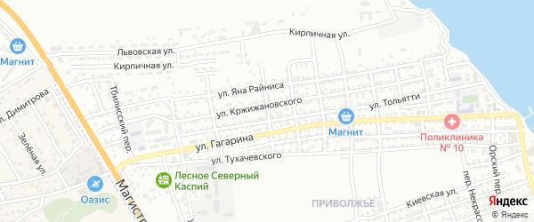 Переулок Чапаева на карте Астрахани с номерами домов