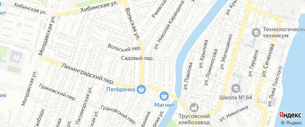 Улица Николая Карандина на карте Астрахани с номерами домов