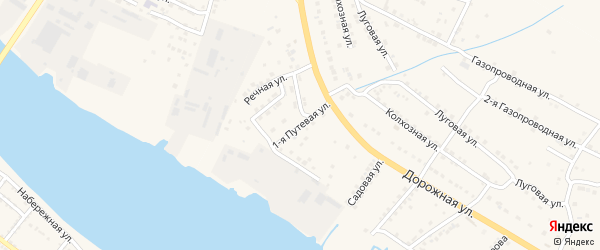 Фруктовая 1-я улица на карте Астрахани с номерами домов