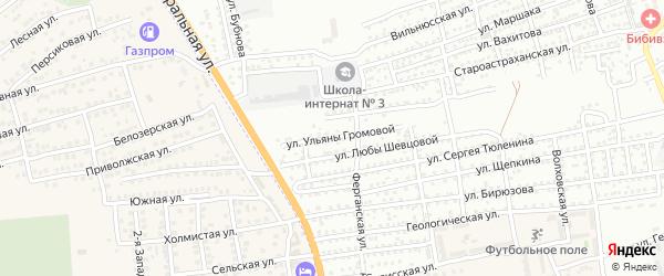 Улица Ульяны Громовой на карте Астрахани с номерами домов