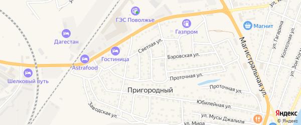 Тихий переулок на карте Пригородного поселка с номерами домов