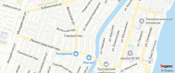 Улица Минина на карте Астрахани с номерами домов