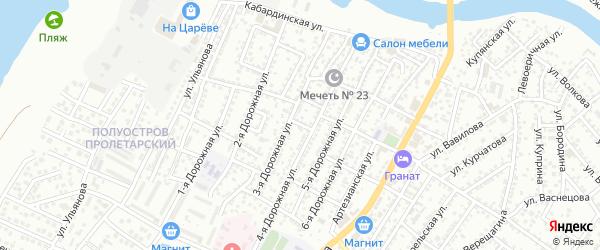 Гудаутский переулок на карте Астрахани с номерами домов