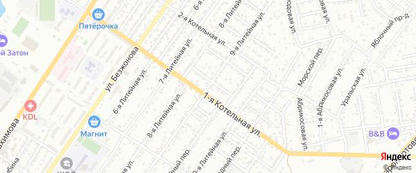 Литейная 9-я улица на карте Астрахани с номерами домов