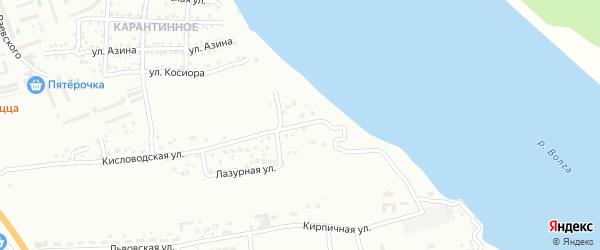 Лазурный переулок на карте Астрахани с номерами домов