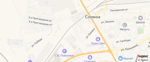 Улица Каверина на карте села Солянки с номерами домов